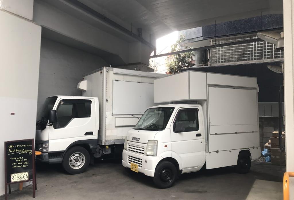 フードトラックカンパニーのモデルキッチンカー(移動販売車)の展示場