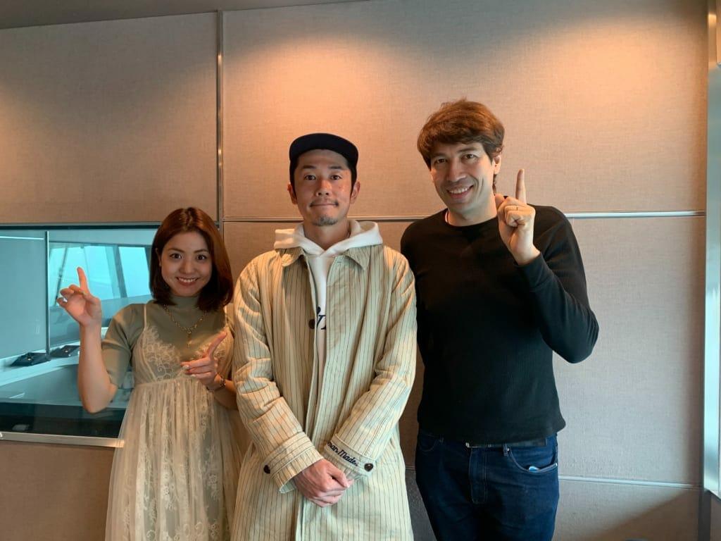 ラジオ:J-WAVEのキッチンカーに浅葉郁男が出演